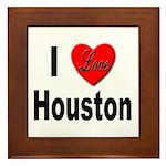I Love Houston Framed Tile