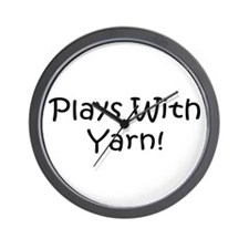 Plays With Yarn Wall Clock