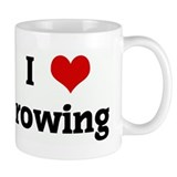 I Love rowing Small Mug
