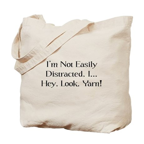 Distracted By Yarn Tote Bag