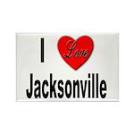 I Love Jacksonville Rectangle Magnet (10 pack)