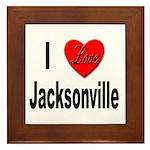 I Love Jacksonville Framed Tile