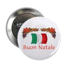 "Italy Buon Natale 2 2.25"" Button (10 pack)"