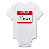 Hello my name is Thor Onesie
