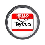 Hello my name is Tessa Wall Clock