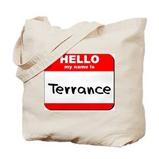 Hello my name is Terrance Tote Bag