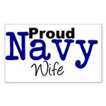 Proud Navy Wife Rectangle Sticker 10 pk)