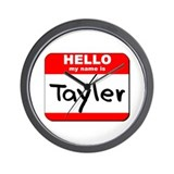 Hello my name is Tayler Wall Clock