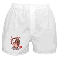 Cute Lipstick on a pig Boxer Shorts