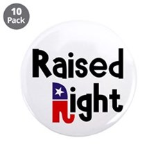 "Raised Right 1 3.5"" Button (10 pack)"