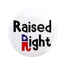 "Raised Right 1 3.5"" Button"