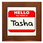 Hello my name is Tasha Framed Tile