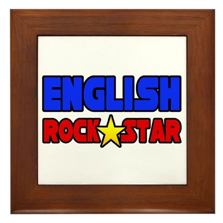 """English Rock Star"" Framed Tile"