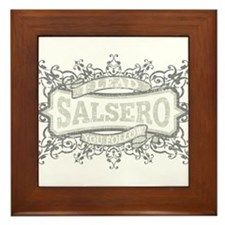 Cute Salsa Framed Tile