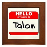 Hello my name is Talon Framed Tile
