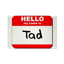 Hello my name is Tad Rectangle Magnet (10 pack)