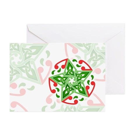 Celtic Christmas Star Greeting Cards (Pk of 20)