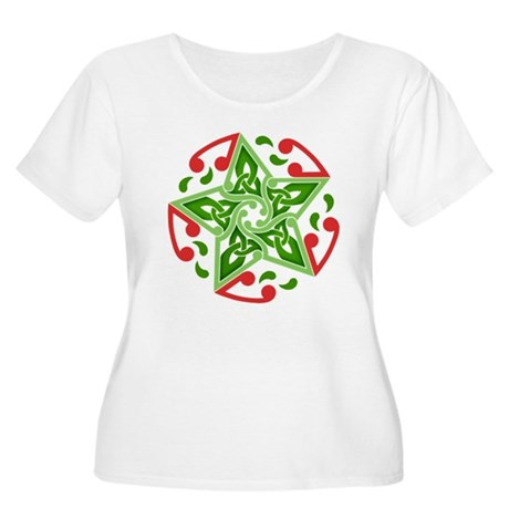 Celtic Christmas Star Women's Plus Size Scoop Neck