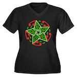 Celtic Christmas Star Women's Plus Size V-Neck Dar
