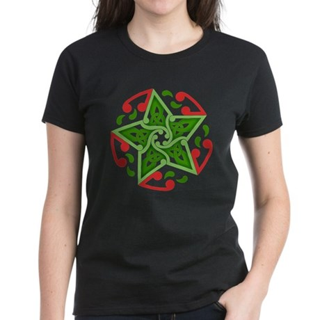 Celtic Christmas Star Women's Dark T-Shirt