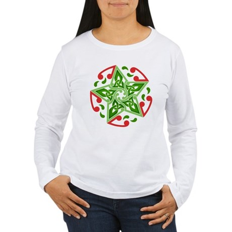 Celtic Christmas Star Women's Long Sleeve T-Shirt