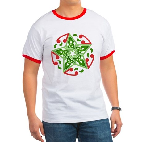 Celtic Christmas Star Ringer T