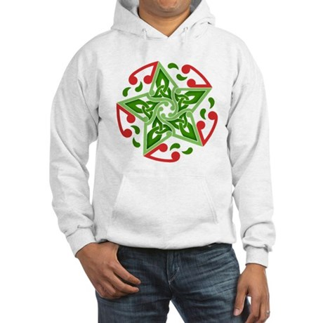 Celtic Christmas Star Hooded Sweatshirt