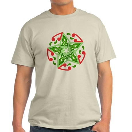 Celtic Christmas Star Light T-Shirt