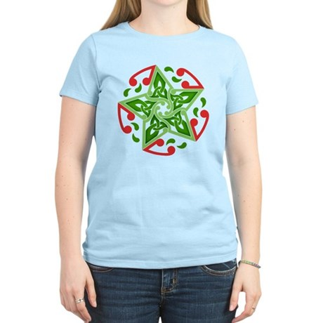 Celtic Christmas Star Women's Light T-Shirt