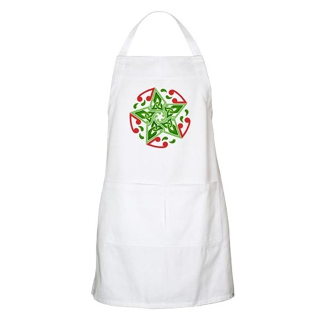 Celtic Christmas Star BBQ Apron