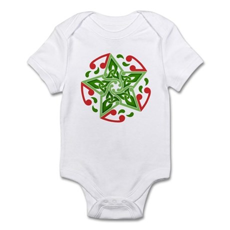 Celtic Christmas Star Infant Bodysuit