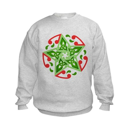 Celtic Christmas Star Kids Sweatshirt