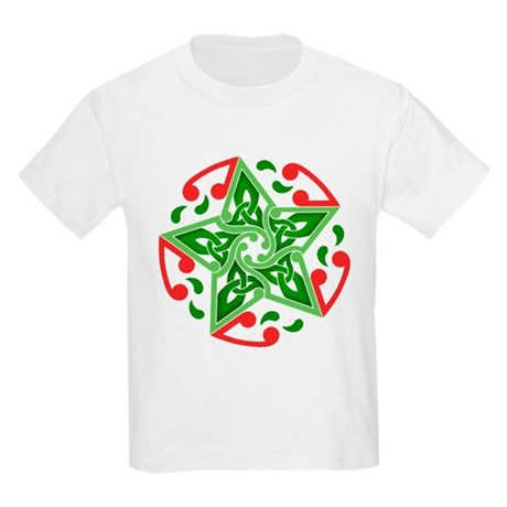 Celtic Christmas Star Kids Light T-Shirt