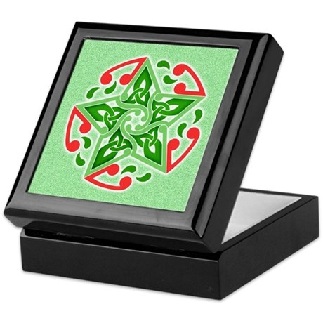 Celtic Christmas Star Keepsake Box