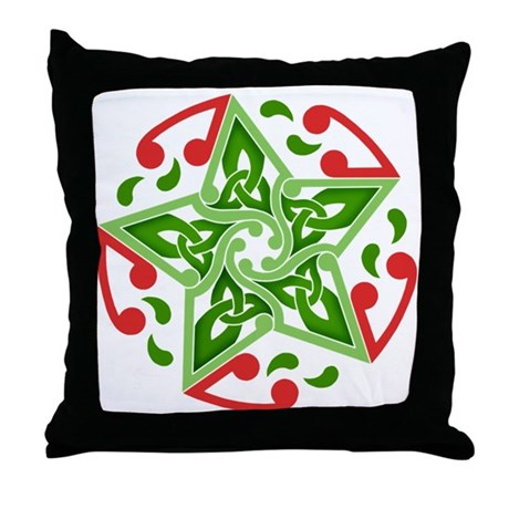 Celtic Christmas Star Throw Pillow