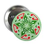 "Celtic Christmas Star 2.25"" Button"