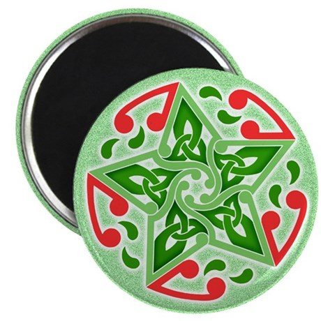 "Celtic Christmas Star 2.25"" Magnet (100 pack)"