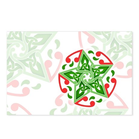 Celtic Christmas Star Postcards (Package of 8)