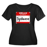 Hello my name is Sydnee Women's Plus Size Scoop Ne