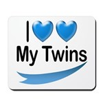 I Love My Twins Mousepad