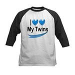 I Love My Twins Kids Baseball Jersey