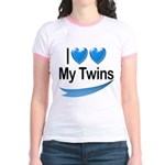 I Love My Twins Jr. Ringer T-Shirt