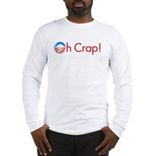 oh crap obama Long Sleeve T-Shirt