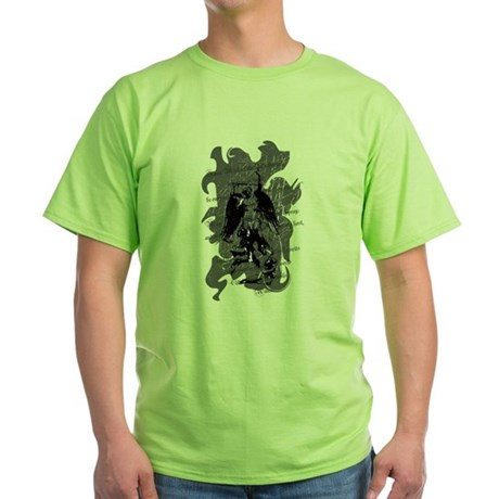 """Saint Michael - Protection A Green T-Shirt"