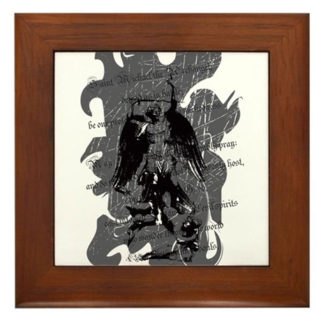 """Saint Michael - Protection A Framed Tile"