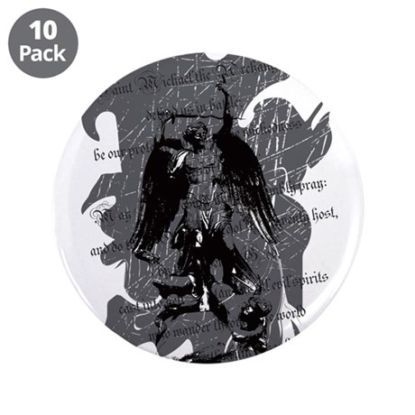 """Saint Michael - Protection A 3.5"" Button (10 pack"