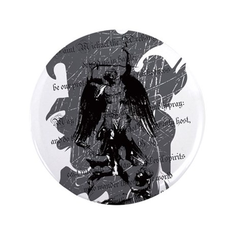 """Saint Michael - Protection A 3.5"" Button"