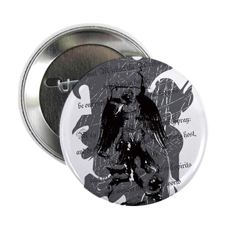 """Saint Michael - Protection A 2.25"" Button (100 pa"