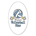 Future Volleyball Star Oval Sticker