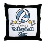 Future Volleyball Star Throw Pillow